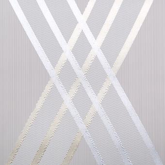 Dulux Easy Hang Feature Wallpaper - St Laurent - Silver - 31-230