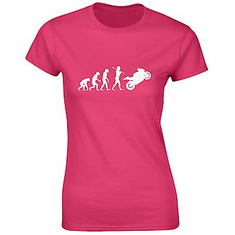 Cyklar Motorcyklar Evo Evolution Womens T-Shirt 8 färger (8-20) av swagwear