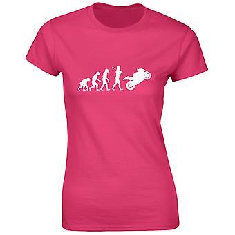 Bikes Motorbikes Evo Evolution Womens T-Shirt 8 Colours (8-20) by swagwear