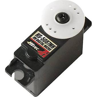 Hitec Mini servo HS-5087MH Digital servo Gear box material: Metal Connector system: JR
