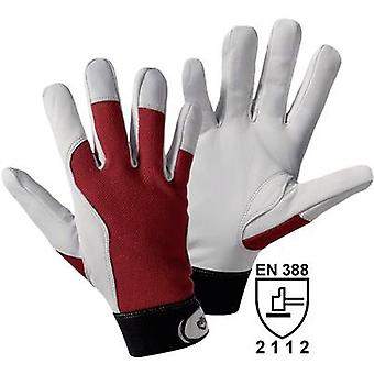 Griffy 1706 Assembly gloves Nappa leather with red interlock-back of the hand