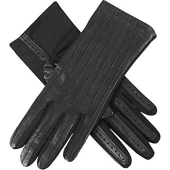 Dents Olivia Half Silk Lined Hairsheep Leather and Elastane Gloves - Black