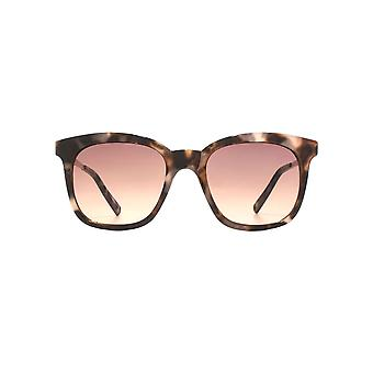 French Connection D Frame Metal Temple Sunglasses In Milky Marble Tortoiseshell