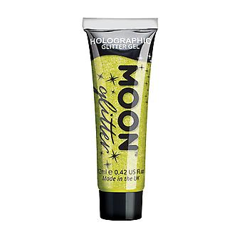 Holographic Face & Body Glitter Gel by Moon Glitter - 12ml - Yellow - Glitter Face Paint