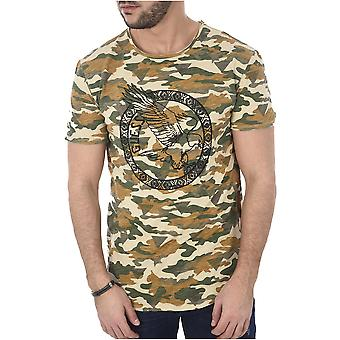 T-shirt cotton Print Camouflage M82i07 - Guess Jeans
