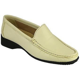 Cotswold Ladies Farmington Slip On Leather Summer Moccasin Brown