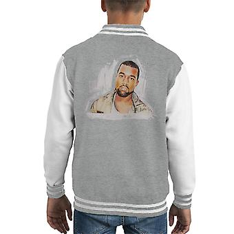 Sidney Maurer Original Portrait Of Kanye West Kid's Varsity Jacket