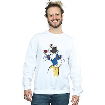 Disney prinsesse mænds sne hvid Apple Glitter Sweatshirt
