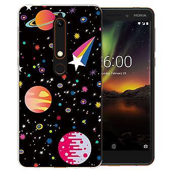 Nokia 6 (2018) Space TPU Gel Case