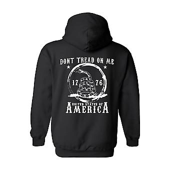 Men's/Unisex Pullover Hoodie Dont Tread On Me: United States Of America