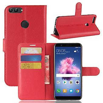 Pocket tegnebog premium rød for Huawei nyde 7S / P smart beskyttelse ærme tilfælde dække pose nye