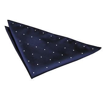 Navy Blue Pin Dot Einstecktuch