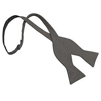 Tumma oliivi Hopsack pellava Thistle itse Tie Bow Tie