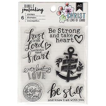 American Crafts Bible Journaling Clear Acrylic Stamps-Trust In The Lord
