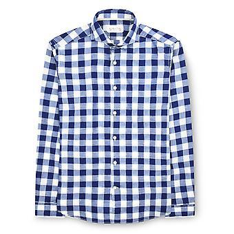 Fabio Giovanni Cannole Shirt - Mens Italian Casual Check Shirt - Long Sleeve