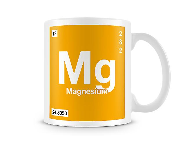 Element Symbol 012 Mg - Magnesium Printed Mug