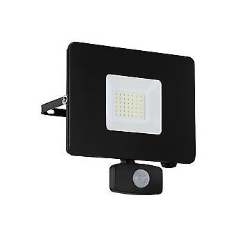 Eglo Budget Slimline 30W LED Strahler mit Bewegungsmelder schwarz