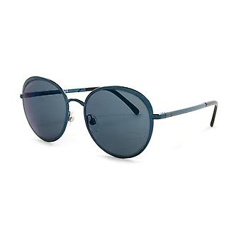 Chanel Chanel Ex-Display Ladies Dark Blue Round Sunglasses With Grey Tinted Lenses