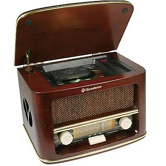 FM Table top radio Roadstar HRA-1500MP AUX, CD, AM, FM Wood