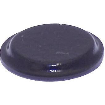 TOOLCRAFT PD2122SW Foot self-adhesive, circular Black (Ø x H) 12.7 mm x 1.8 mm 1 pc(s)