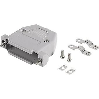 D-SUB housing Number of pins: 15 Plastic 180 ° Grey BKL Electronic 10120061 1 pc(s)