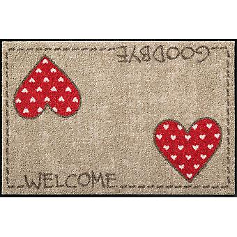 Salon lion doormat of Laura's heart washable country house style