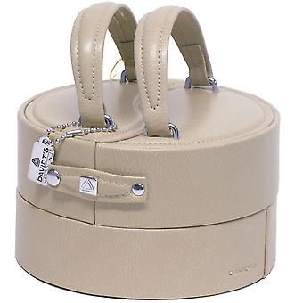 Jewelry box jewelry box jewelry box beige round handle 13 x 15 cm