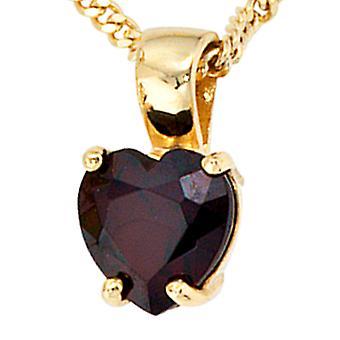 Trailer 333 /-g-heart heart pendant-gold heart pendant-gold Garnet