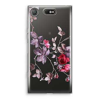 Sony Xperia XZ1 Compact Transparant Case (Soft) - Pretty flowers