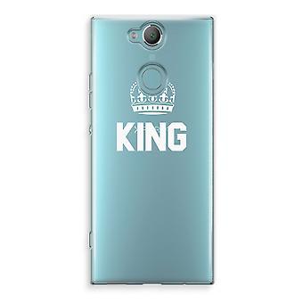 Sony Xperia XA2 Transparent Case (Soft) - King black