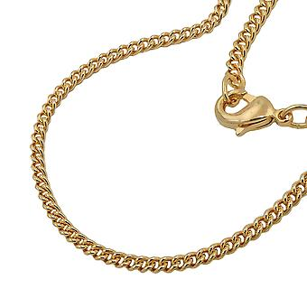 Chain flat tank 2, 8 mm gold plated 50cm AMD