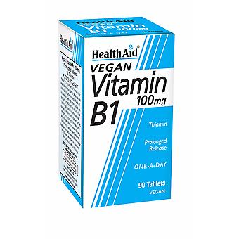 Health Aid Vitamin B1 (Thiamin) 100mg - Prolonged Release ,  90 Tablets