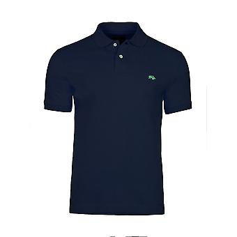 Muscle Fit Plain Polo - Navy