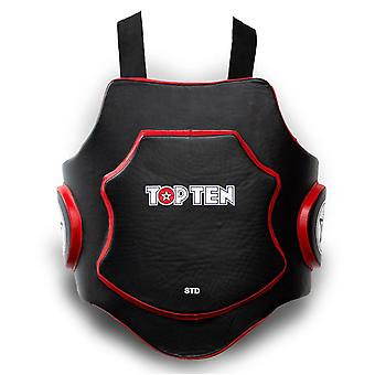 Top Ten MMA Belly Protector Black/Red