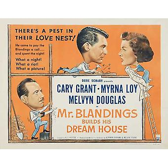 Mr Blandings bygger sin dröm hus filmaffisch (11 x 17)
