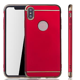 Apple iPhone XS Max Handy Hülle Schutz Case Bumper Hard Cover Rot