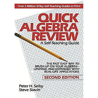 Snabb Algebra granskning (Wiley SelfTeaching guider)