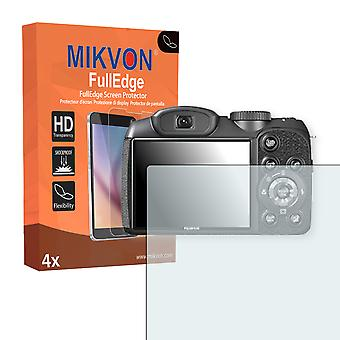 Fujifilm FinePix S2980 screen protector - Mikvon FullEdge (screen protector with full protection and custom fit for the curved display)