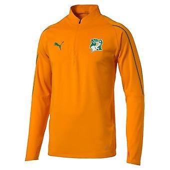 2018-2019 Ivory Coast Puma 1/4 Zip Training Top (Orange)