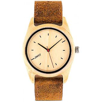 Watch D.W.Y.T DW-00102-1005 - Tundra wood mixed brown leather
