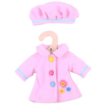 Bigjigs Toys rosa Rag Doll Mantel & Hut (28cm) Kleidung Outfit Dress Up