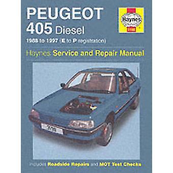 Peugeot 405 Diesel Service and Repair Manual - 1988-1997(E to P Regist