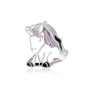 Sterling Silver charm Lucky Unicorn