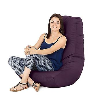 Purple Water Resistant Outdoor Gaming Bean Bag Highback Lounger Chair