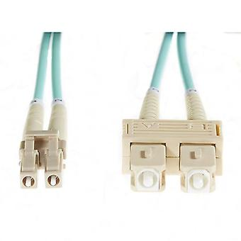 20M Lc Sc Om3 Multimode Fibre Optic Cable Aqua