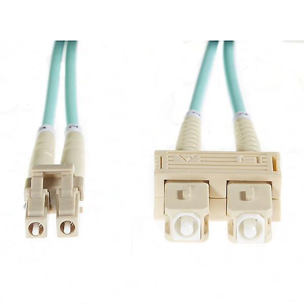 20M Lc Sc Om3 Multimode Fibre Optic Cable Aqua