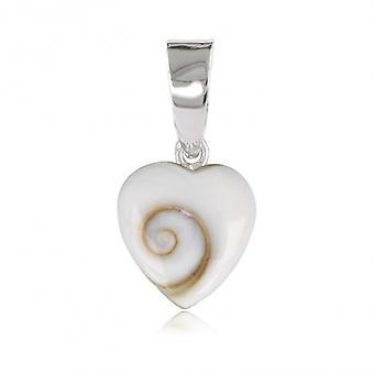 Silver Heart hjärta St Lucia ' s hänge