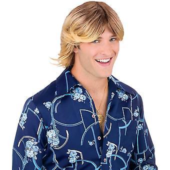 Damer mann Blonde parykk For voksne