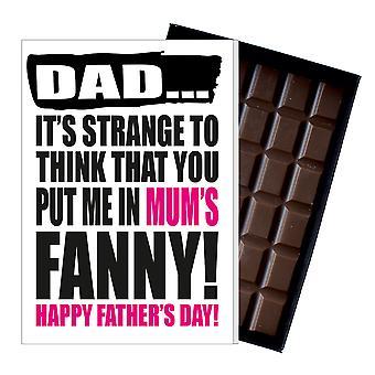 Rolig fars dag gåva fåniga choklad present Rude kort för pappa DADIYF105