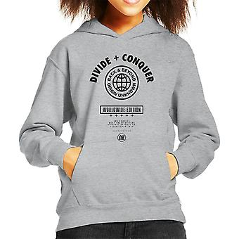 Divide & Conquer Worldwide Edition Globe Kid's Hooded Sweatshirt